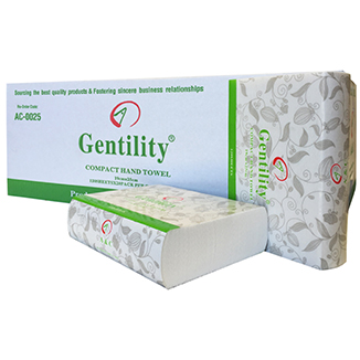 Gentility Compact Hand Towel TAD (2,400 sheets per carton) - Bulk Wholesale