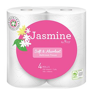 Jasmine Luxury Scented Toilet Tissues x 48 rolls per slab - Bulk Wholesale