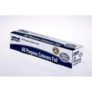 Caterpak Aluminium Foil 150m Roll x 45cm or 30cm - Bulk Wholesale