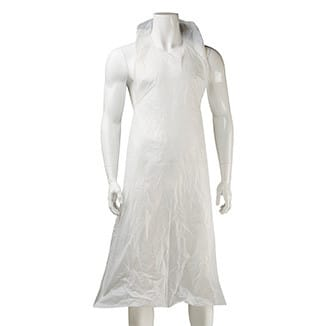 Disposable HDPE/LDPE White Aprons x 500 aprons per carton - Bulk WholeSale