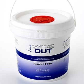 Alcohol-Free Wipe Out Detergent Wipes 225's Bio-Degradable - Bulk Wholesale