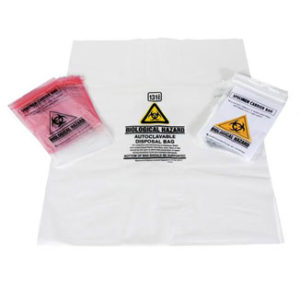 Autoclave Biological Hazard Bags / Specimen Bags - Bulk Wholesale
