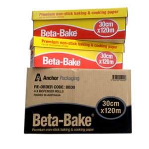 Beta Bake Premium Non Stick Baking & Cooking Paper Roll 30cm x 120m - Bulk Wholesale