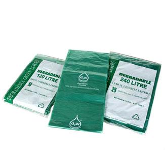 Degradable Enviro Green Garbage Bags (Bin Liners) - Bulk Wholesale