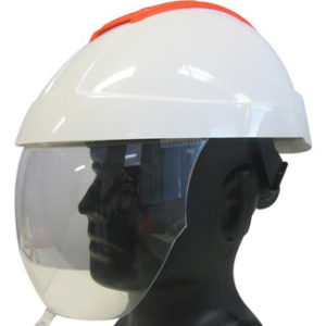 E-MAN Retractable Visor Helmet with Chinstrap and 6 Point Harness - Bulk Wholesale