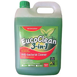 Eucoclean 3 In 1 Anti Bacterial Cleaner 5 Litre Refill