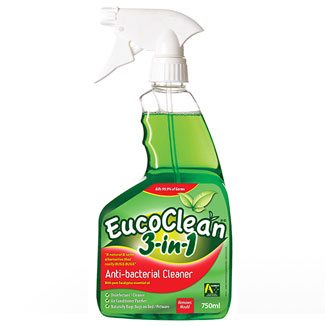 EucoClean 3-in-1 Eucalyptus Anti-Bacterial Cleaner 750mL x 6 pack - Bulk Wholesale