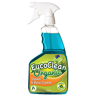 Eucoclean 'Organic' Shower and Basin Cleaner 750mL x 6 - Bulk Wholesale