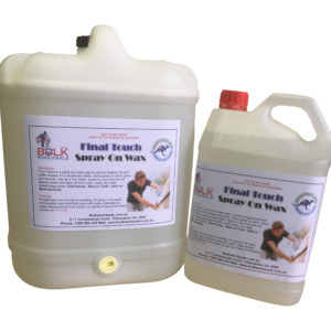 Final Touch Spray On Wax 20 Litre - Bulk WholeSale