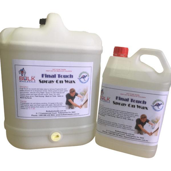 Final Touch Spray On Wax 20 Litre - Bulk WholeSale
