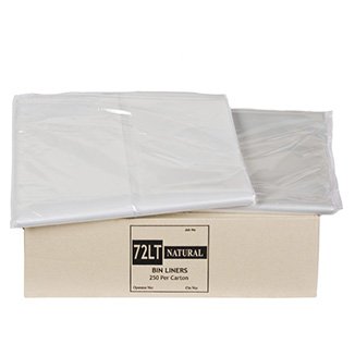 Natural Star Sealed Bin Liners Available From 55 To 240