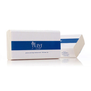 LIVI Essentials 1 Ply Extra Large Hand Towels 100 sheet ( 24x37cm) / 24 units per carton - Bulk Wholesale