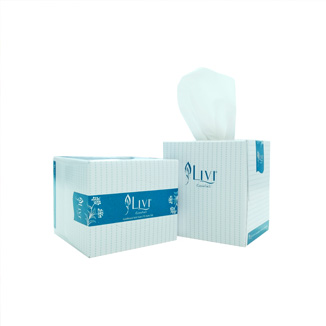Livi Essentials Hypo-Allergenic Facial Tissues 90's 2 ply Cube x 24 per carton - Bulk Wholesale