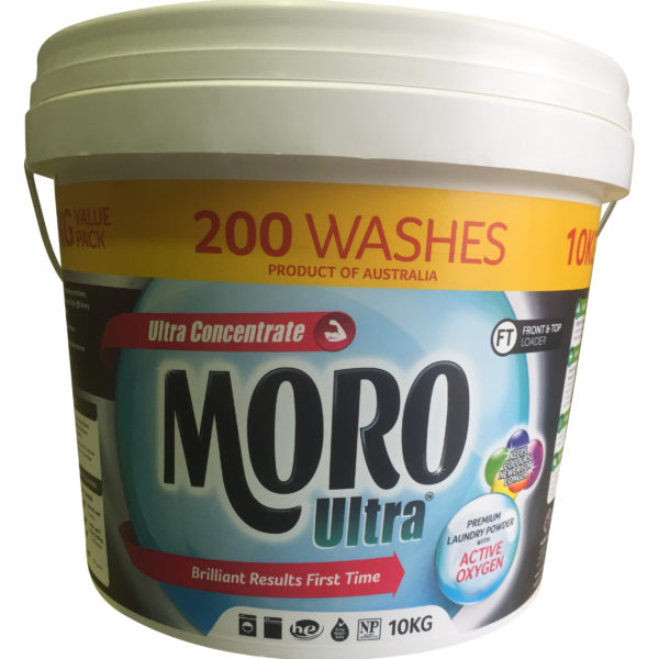 Moro Ultra Top & Front Load High Quality Laundry Powder 10kg - Bulk Wholesale