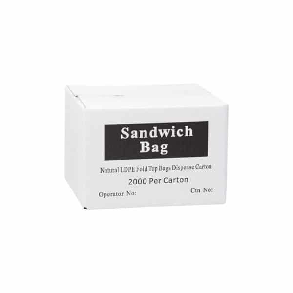 Quality Sandwich Bags with Lip (Natural LDPE) x 2000 bags per carton - Bulk WholeSale