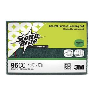 3M Scotch-Brite General Purpose Scouring Pad 96 – Medium Duty 10 pack - Bulk WholeSale