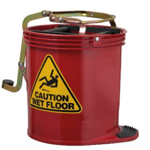 3-Wheel Mop Buckets with Wringer 16L capacity - Bulk Wholesale