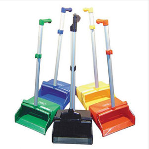 Lobby Dust Pan Set (Pan & Handle Broom & Clips) - Bulk Wholesale