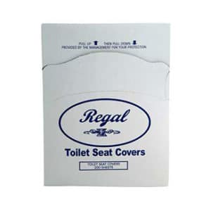 Regal Toilet Seat Covers 200 sheets x 25 packs (5000's) - Bulk WholeSale