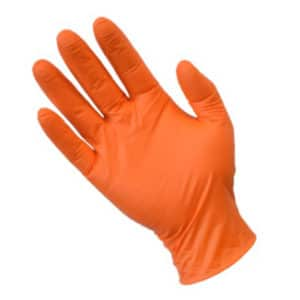 Ultra Fresh Orange Nitrile Powder Free Disposable Gloves 1000 per carton - Bulk WholeSale
