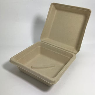Beta- Eco Wheat Fibre Snack Pack Take-Away boxes x 200 per carton – 3 sizes - Bulk WholeSale
