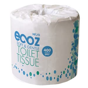 Ecoz 400 sheet Toilet Tissues 2-Ply x 48 rolls per carton - Bulk WholeSale