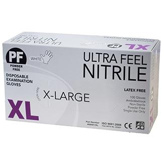 Ultra Feel WHITE Nitrile Powder Free Disposable Gloves x 1000 per carton - Bulk WholeSale