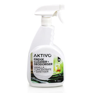 AKTIVO Fridge Cleaner and Vanilla Concentrate Deodoriser and Sanitiser 750mL Spray - Bulk Wholesale