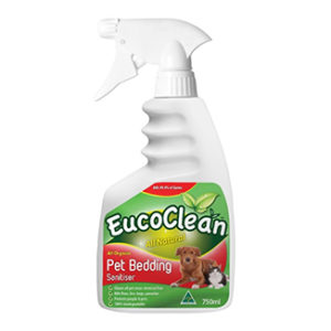 Eucoclean All Natural Organic Pet Bedding Sanitiser 750mL x 6 bottles per carton - Bulk WholeSale