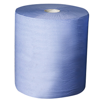 Tiddox 1000 sheet 3-Ply Blue Paper Roll Wipes (Industrial, Automotive, Hospitality) - Bulk WholeSale