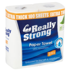 Really Strong Ultra Absorbent Kitchen Paper Towels 2ply x 30 rolls per polybag - Bulk WholeSale