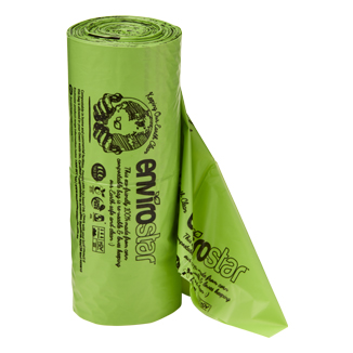 Envirostar Produce Roll Green Printed 16um (250 sheets x 6 rolls) - Bulk WholeSale